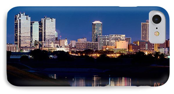 Fort Worth Skyline At Night Poster IPhone Case