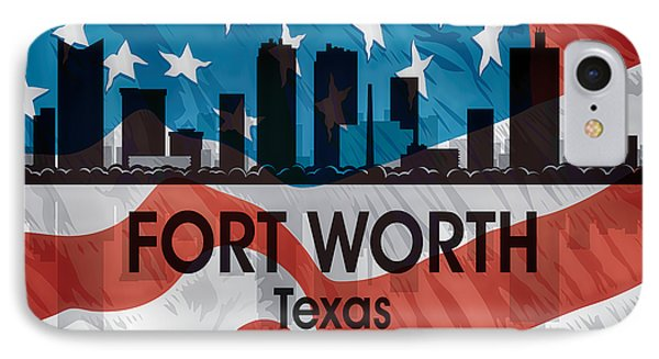 Fort Worth Tx American Flag Squared IPhone Case