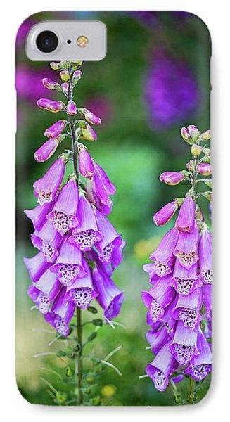 Foxglove Blooms IPhone Case