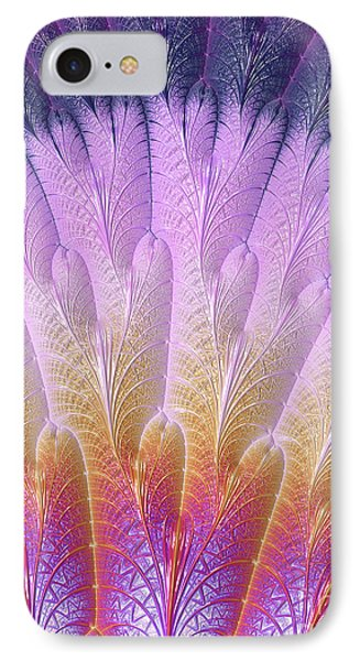 Fractal Feather Fan IPhone Case