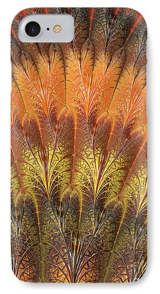 Fractalized Feather Fan IPhone Case