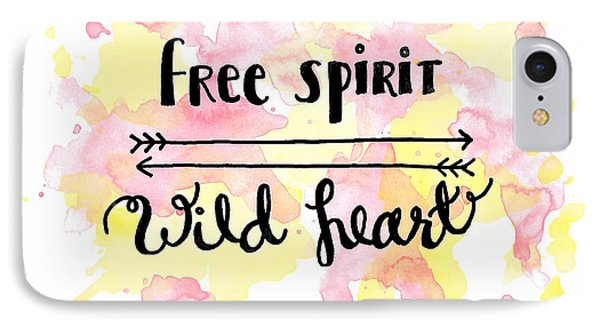 Free Spirit Wild Heart Watercolor IPhone Case