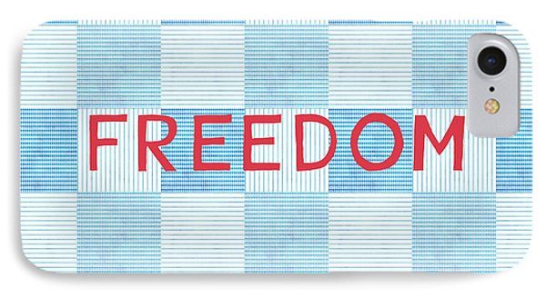 American iPhone 8 Case - Freedom Patchwork by Linda Woods