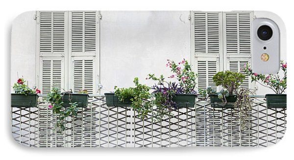 French Balcony With Shutters IPhone Case