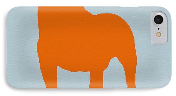 Dog iPhone 8 Case - French Bulldog Orange by Naxart Studio