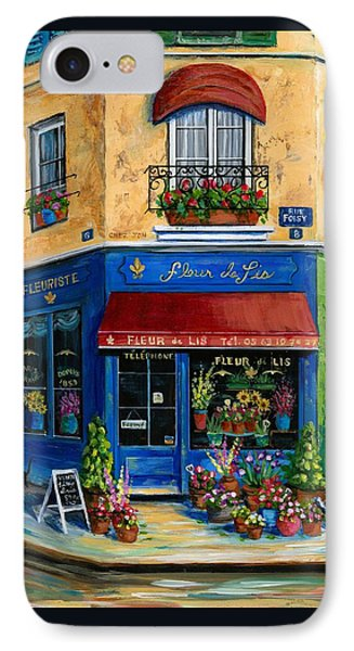 French Flower Shop IPhone Case