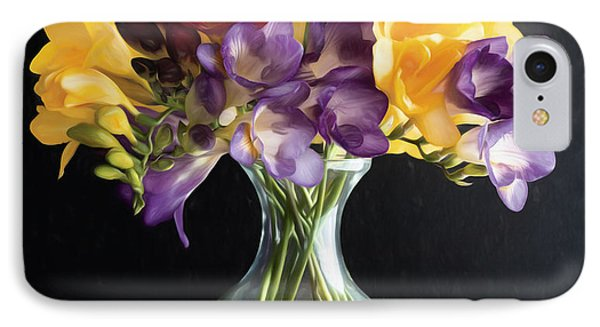 Fresh Freesias IPhone Case