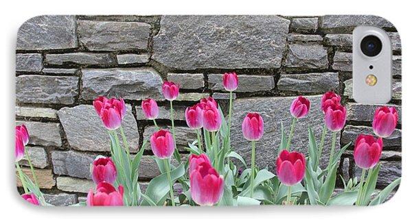 Fuchsia Color Tulips IPhone Case