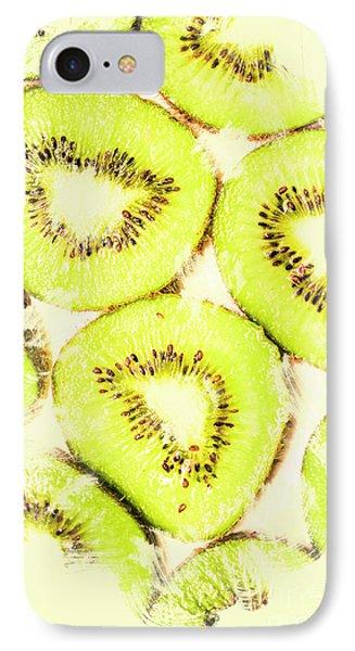 Full Frame Shot Of Fresh Kiwi Slices With Seeds IPhone Case