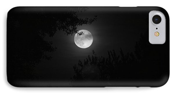 Full Moon With Branches IPhone Case