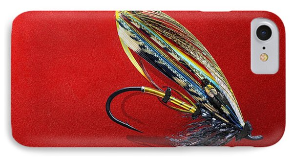 Fully Dressed Salmon Fly On Red IPhone Case