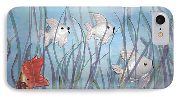 Fun With Chalkware Fish  IPhone Case