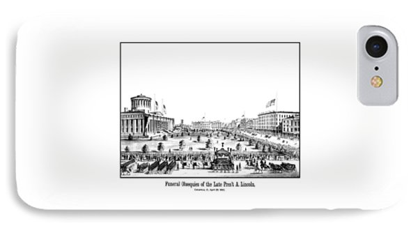 Funeral Obsequies Of President Lincoln IPhone Case