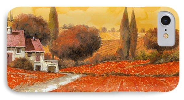 Landscape iPhone 8 Case - fuoco di Toscana by Guido Borelli