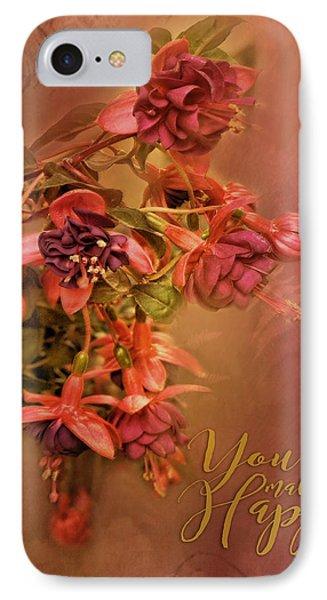 Fushia Bouquet IPhone Case