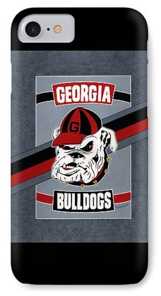 Bulldogs Poster T-shirt IPhone Case