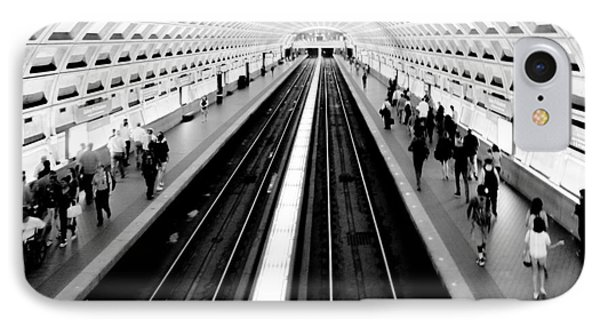 Train iPhone 8 Case - Gallery Place Metro by Thomas Marchessault