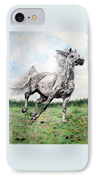 Galloping Arab Horse IPhone Case
