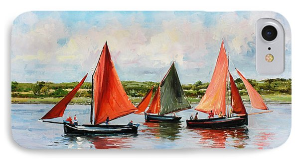 Boat iPhone 8 Case - Galway Hookers by Conor McGuire