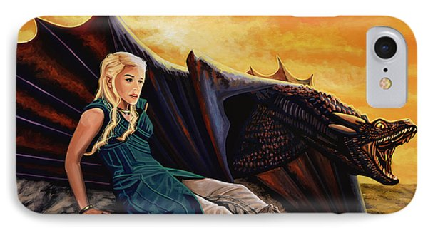 Dragon iPhone 8 Case - Game Of Thrones Painting by Paul Meijering