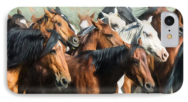 Gathering The Herd IPhone Case