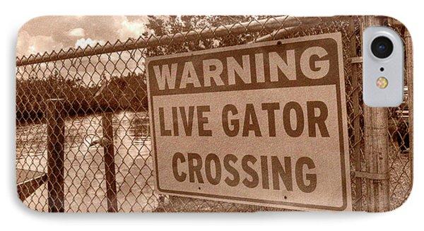 Gator Crossing IPhone Case