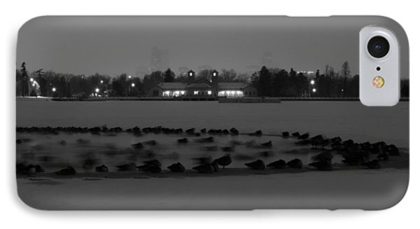 Geese In Frozen Lake IPhone Case