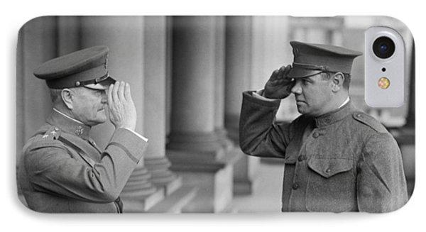 General John Pershing Saluting Babe Ruth IPhone Case