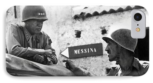 General Patton In Sicily IPhone Case