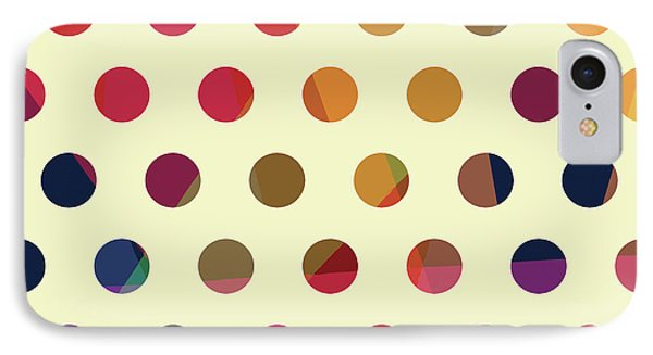 IPhone Case featuring the mixed media Geometric Dots by Carla Bank