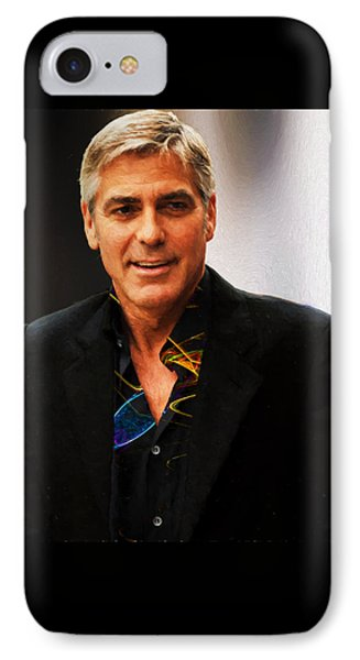 George Clooney Painting IPhone Case