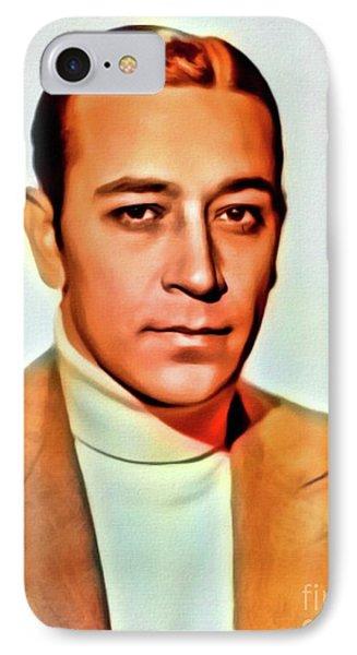 George Raft, Vintage Actor. Digital Art By Mb IPhone Case