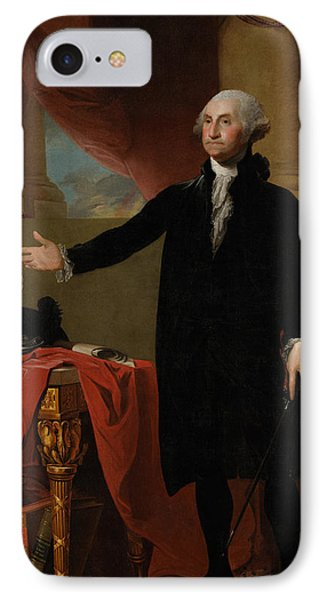 Portraits iPhone 8 Case - George Washington Lansdowne Portrait by War Is Hell Store
