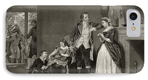 George Washington's First Interview With Mrs Martha Custis IPhone Case