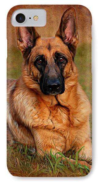 German Shepherd Dog Portrait  IPhone Case