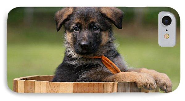 German Shepherd Puppy In Planter IPhone Case
