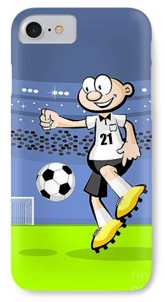 German Soccer Player Dominates The Ball In The Middle Of The Field IPhone Case
