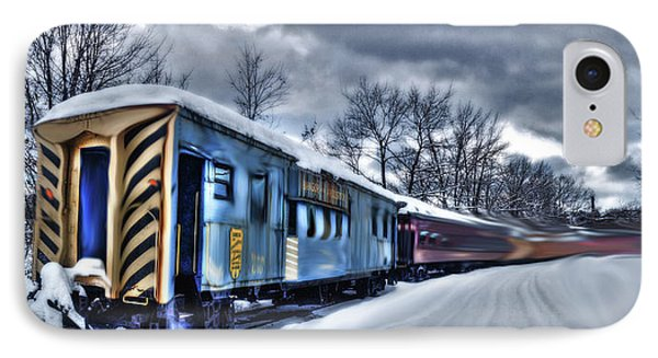 Ghost Train In An Existential Storm IPhone Case