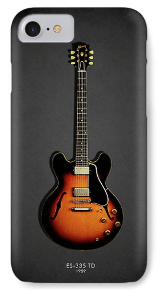 Music iPhone 8 Case - Gibson Es 335 1959 by Mark Rogan