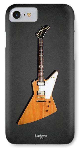 Guitar iPhone 8 Case - Gibson Explorer 1958 by Mark Rogan