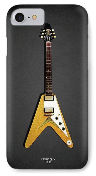 Guitar iPhone 8 Case - Gibson Flying V by Mark Rogan