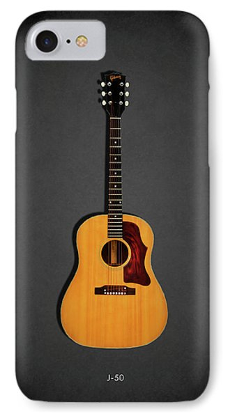 Rock And Roll iPhone 8 Case - Gibson J-50 1967 by Mark Rogan