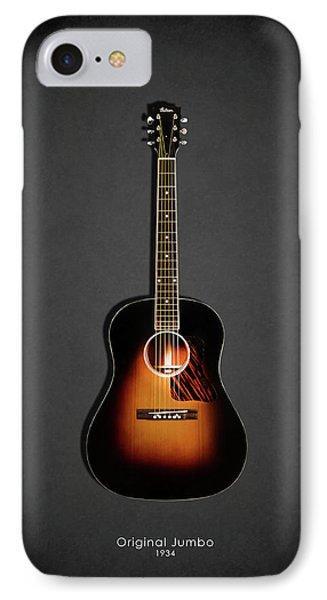 Guitar iPhone 8 Case - Gibson Original Jumbo 1934 by Mark Rogan