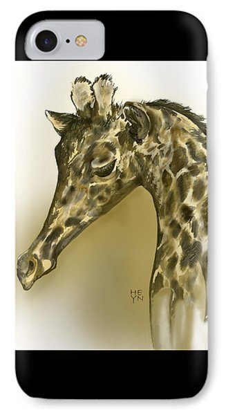 Giraffe Contemplation IPhone Case
