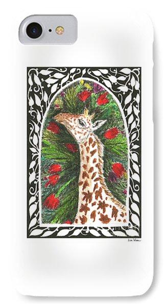 Giraffe In Archway IPhone Case