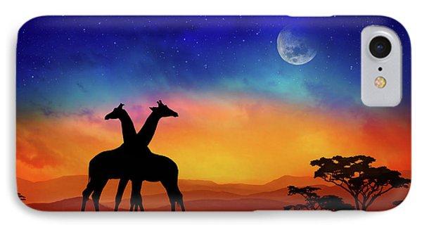 Africa iPhone 8 Case - Giraffes Can Dance by Iryna Goodall