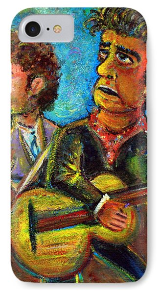 Girl From North Country Johnny Cash And Bob Dylab IPhone Case