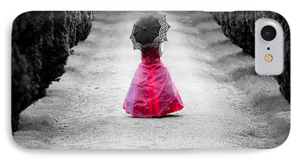 Girl In A Red Dress IPhone Case