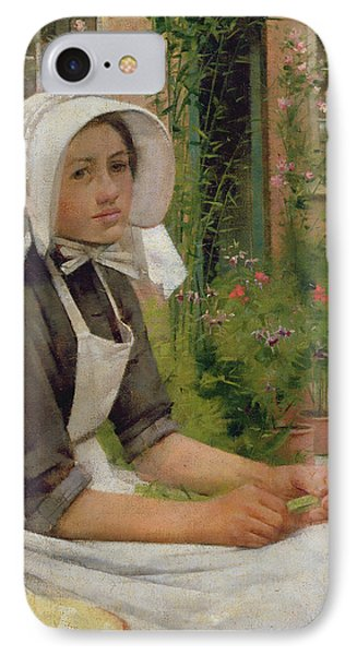 Girl Shelling Peas IPhone Case