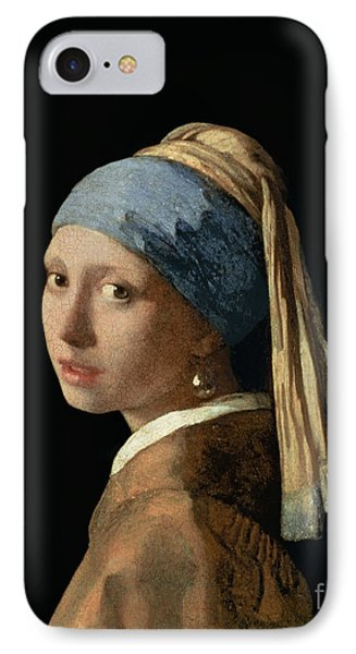 Portraits iPhone 8 Case - Girl With A Pearl Earring by Jan Vermeer